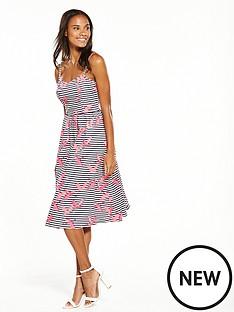 oasis-oasis-stripe-flamingo-dress