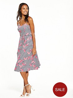 oasis-stripe-flamingo-dress