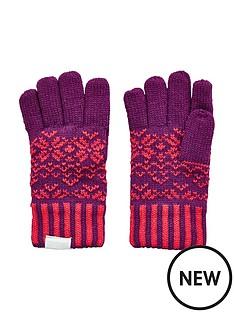 regatta-girls-snowflake-gloves