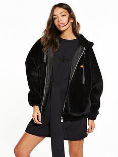 ellesse-heritage-giovanna-faux-fur-jacket-blacknbsp
