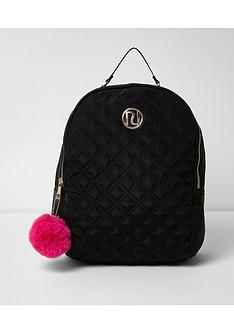 river-island-river-island-girls-large-quilted-backpack