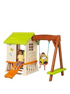 smoby-swingset-playhouse