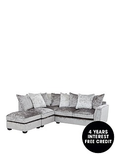 glitz-left-hand-fabric-corner-chaise-sofa