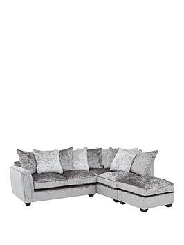 Very Glitz Right-Hand Fabric Corner Chaise Sofa Picture