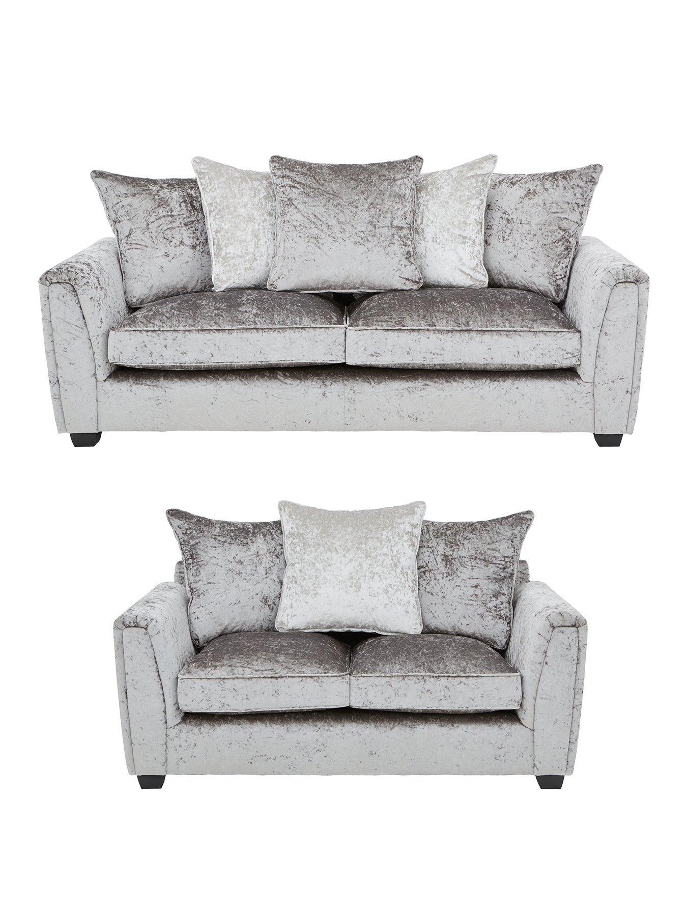 glitz 3seater 2seater fabric sofa set buy and save