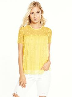 v-by-very-polka-dot-mesh-top-yellow