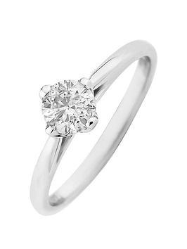 Love DIAMOND Love Diamond Platinum 50 Point Diamond Solitaire Ring Picture
