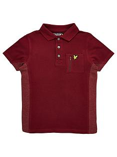 lyle-scott-boys-short-sleeve-polo-with-zip