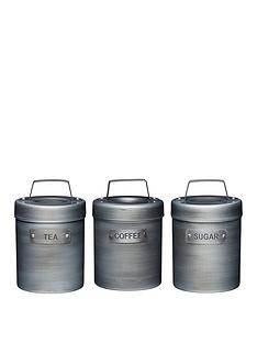 kitchencraft-industrial-kitchen-tea-coffee-sugar-canisters-ndash-set-of-3
