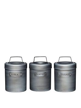 Kitchen Craft Industrial Kitchen Set Of 3 Storage Canisters