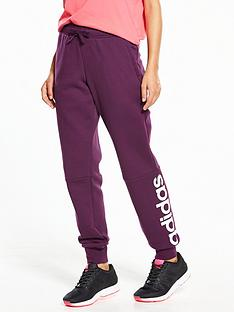 adidas-essentials-linear-fleece-pants-burgundynbsp
