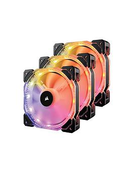 corsair-hd120-rgb-individually-addressable-led-3-pack-static-pressure-fan-with-controller