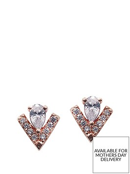 carat-london-rose-gold-plated-on-sterling-silver-pear-cut-key-stone-and-micro-set-victoria-stud-earrings