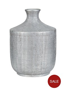 ideal-home-scratched-silver-decorative-vase