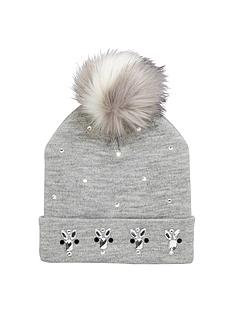 v-by-very-girls-embellished-bobble-beanie-8-14-years-grey