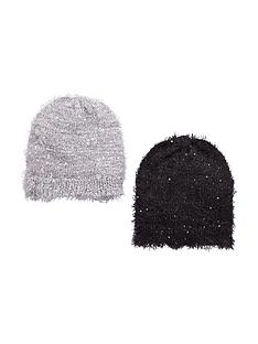 v-by-very-girls-2-pc-eyelash-knit-sequin-beanies-8-14-years