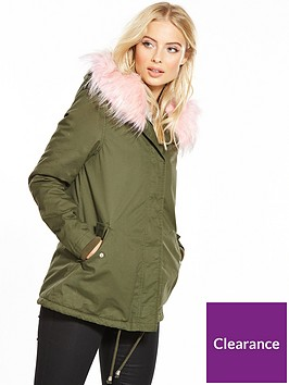 v-by-very-short-army-swing-parka