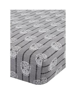Catherine Lansfield Catherine Lansfield Skulls Fitted Sheet - Double Picture