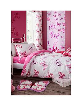 Catherine Lansfield Catherine Lansfield Butterfly Fitted Sheet - Double Picture