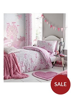 catherine-lansfield-folk-unicorn-lined-curtains