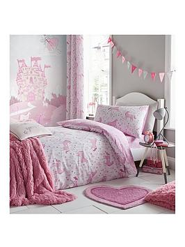 catherine-lansfield-folk-unicorn-lined-curtains