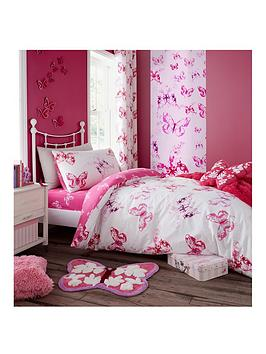Catherine Lansfield Catherine Lansfield Butterfly Lined Curtains Picture