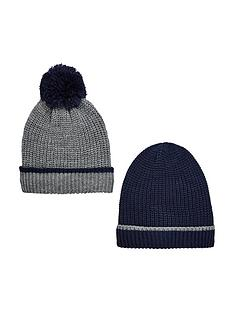 v-by-very-boys-knitted-bobble-hats-8-14-years-2-pack--nbspnavygrey
