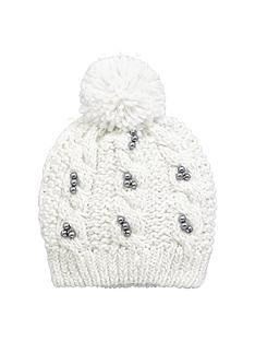 v-by-very-girls-pearl-detail-sparkle-bobble-beanie-creamgrey