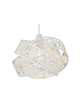 Very White Crossover Metal Fretwork Shade Picture