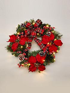 pre-lit-poinsettanbspchristmas-wreath