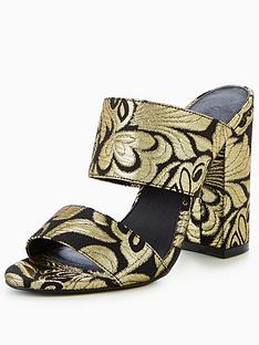 v-by-very-icon-tapestry-two-strap-mule-blackgold