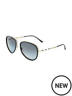 burberry-aviator-style-sunglasses-blackgold