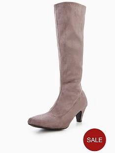 v-by-very-rhea-mid-heel-imi-suede-stretch-boot-grey