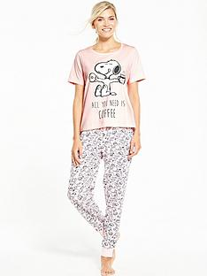 v-by-very-snoopy-all-you-need-is-coffee-pyjama-set