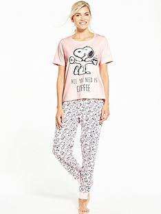 v-by-very-snoopy-all-you-need-is-coffee-pyjama-set