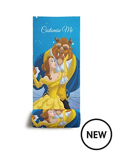 disney-beauty-and-the-beast-personalised-beach-towel