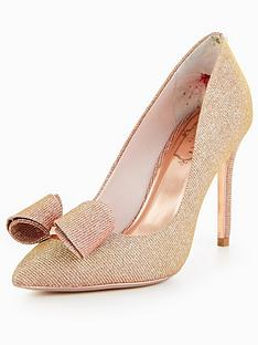 ted-baker-azeline-bow-court-shoe-rose-gold