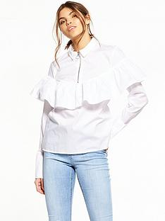noisy-may-taylor-long-sleeve-frill-shirt-brilliant-white