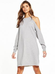 noisy-may-girl-boss-long-sleeve-cold-shoulder-dress-grey