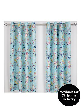 catherine-lansfield-floral-birdcage-lined-eyelet-curtains
