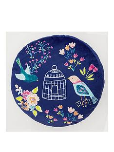 catherine-lansfield-floral-birdcage-round-cushion