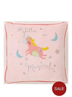 catherine-lansfield-magical-unicorns-square-cushion