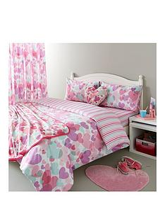 catherine-lansfield-pastel-hearts-cotton-rich-duvet-cover-set