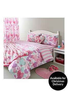 catherine-lansfield-pastel-hearts-cotton-rich-duvet-cover-set