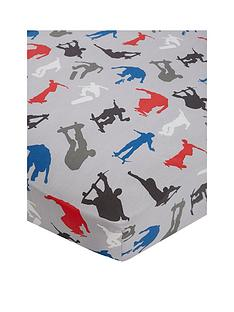 catherine-lansfield-skaters-cotton-rich-double-fitted-sheet