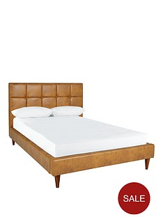 ideal-home-olson-faux-leather-double-bed-frame