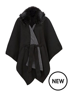 v-by-very-faux-fur-trim-fleece-belted-cape