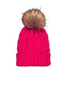 v-by-very-chunky-cable-knit-pom-pom-beanie-pink
