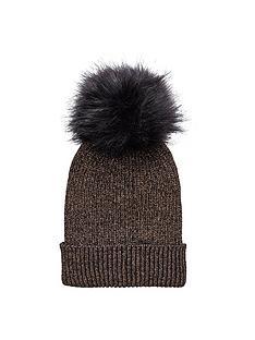 v-by-very-lurex-thread-faux-fur-pom-pom-beanie