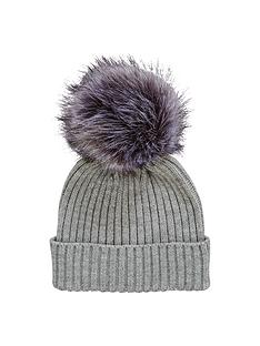 v-by-very-changeable-pom-pom-beanie-grey